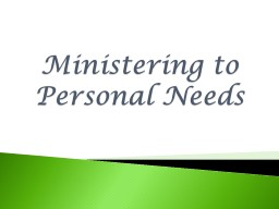 Ministering to