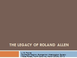 The Legacy of Roland Allen
