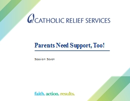 Parents Need Support, Too!