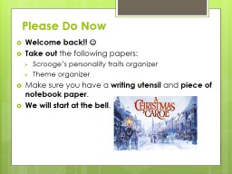 Please Do Now PowerPoint PPT Presentation