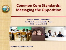 Common Core Standards: PowerPoint PPT Presentation