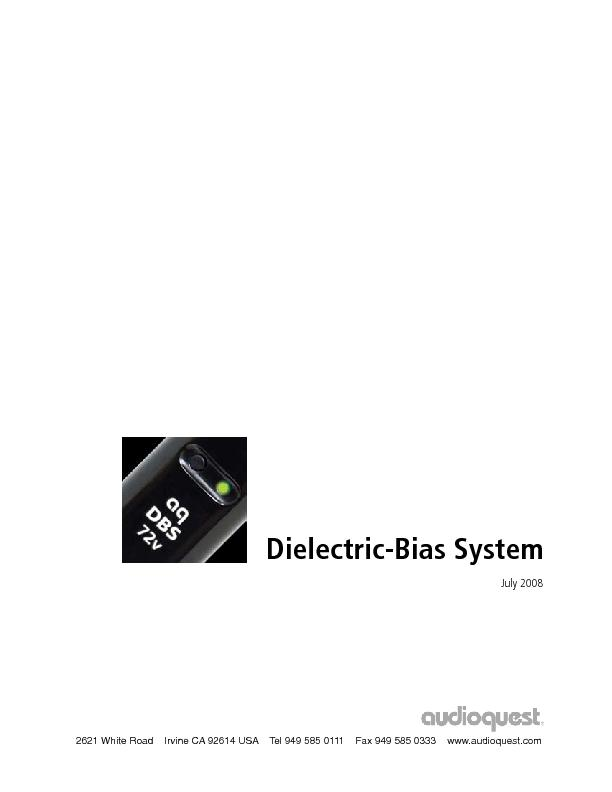 AudioQuest Dielectric Bias System (DBS)