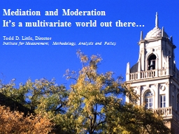 Mediation and Moderation