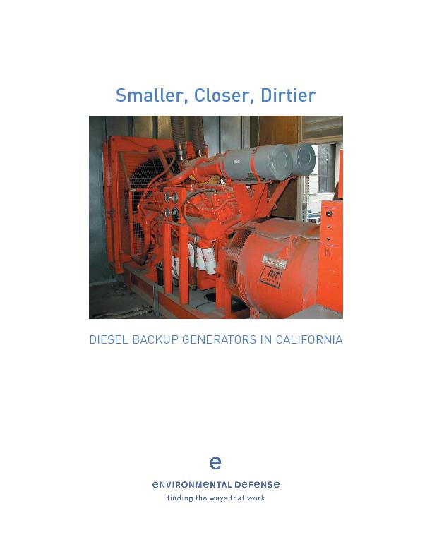 DIESEL BACKUP GENERATORS IN CALIFORNIA