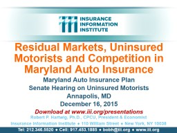 Residual Markets, Uninsured Motorists and Competition in Ma