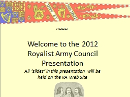 Welcome to the 2012 Royalist