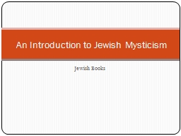 Jewish Books PowerPoint PPT Presentation