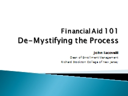 Financial Aid PowerPoint PPT Presentation
