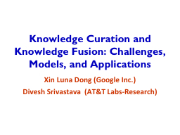 Knowledge Curation and