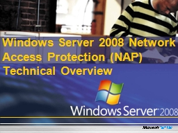 Windows Server 2008 Network Access Protection (NAP) Technic