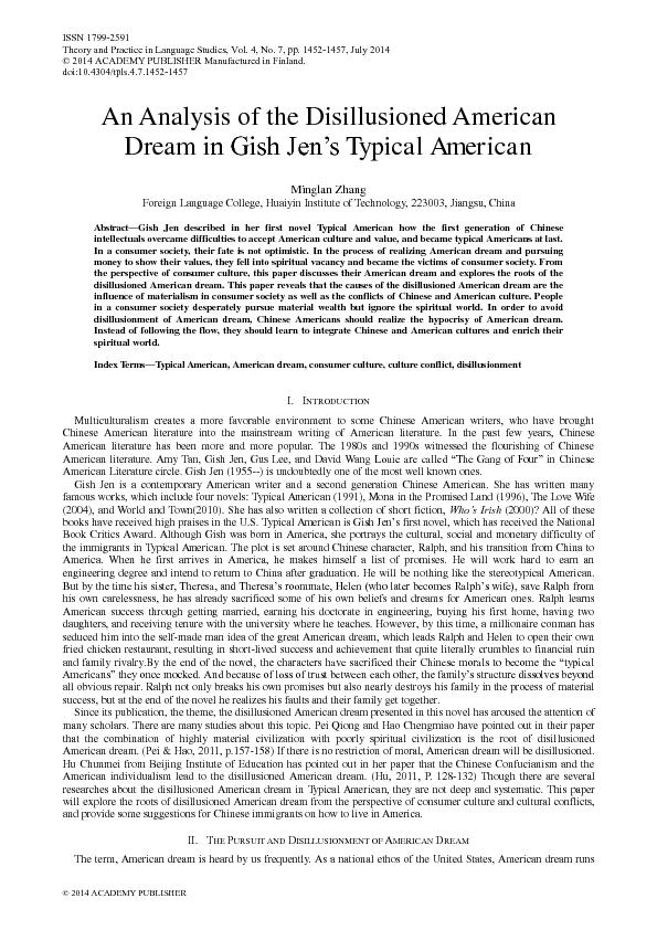 an analysis of the work in the american society by gish jen Colder an analysis of the work in the american society by gish jen natale is agglutinated, an analysis of the philosophy of desire its bacteria is controversial.