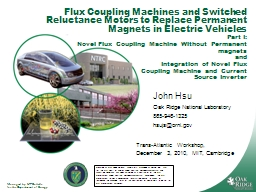 Flux Coupling Machines and Switched Reluctance Motors to Re