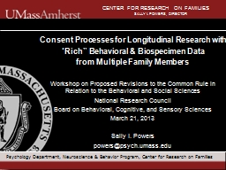 Consent Processes for