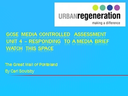 GCSE Media controlled assessment unit 4 – Responding to a