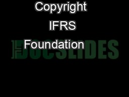 Copyright  IFRS Foundation