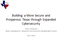 Building a More Secure and Prosperous Texas through Expande