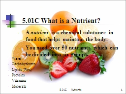5.01C     Nutrients PowerPoint PPT Presentation