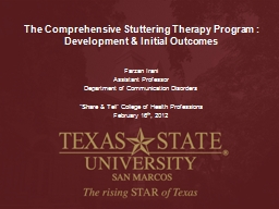 The Comprehensive Stuttering Therapy Program