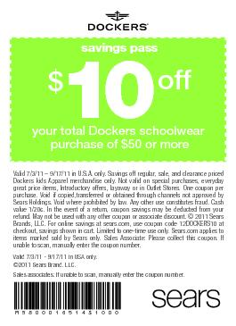 saving payour total Dockers schoolwear purchase of $50 or moreValid7/3