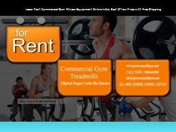 Lease Rent Commercial Gym Fitness Equipment Online India Best Offers Price with Free Shipping