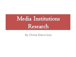 Media Institutions Research
