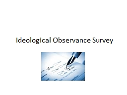 Ideological Observance Survey
