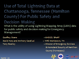 Use of Total Lightning Data at PowerPoint PPT Presentation