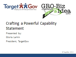 Crafting a Powerful Capability Statement