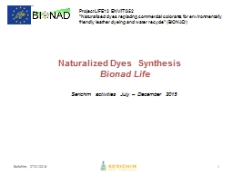 Naturalized Dyes  Synthesis