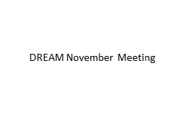 DREAM November Meeting