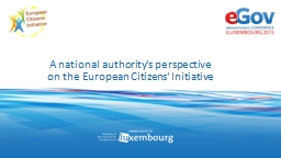 A national authority's perspective on the European Citizens