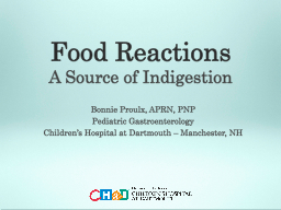 Food Reactions