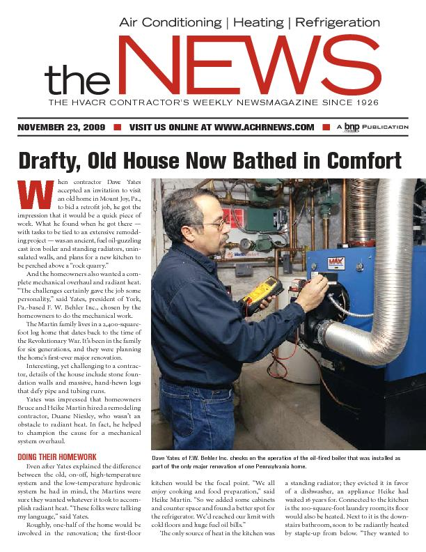 THE HVACR CONTRACTOR'S WEEKLY NEWSMAGAZINE SINCE 1926
