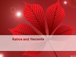 Ratios and