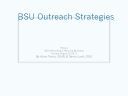 BSU Outreach