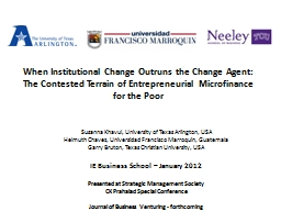 When Institutional Change Outruns the Change Agent: PowerPoint Presentation, PPT - DocSlides