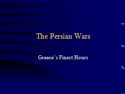 The Persian Wars PowerPoint PPT Presentation