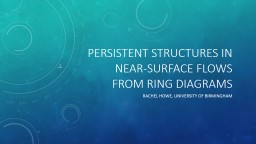 Persistent structures in near-surface flows from ring diagr