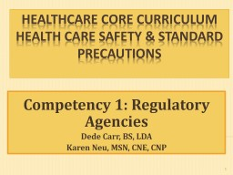HealthCare Core Curriculum PowerPoint PPT Presentation