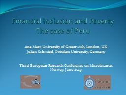 Financial Inclusion and Poverty