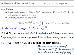 A quantity that decreases exponentially is said to have