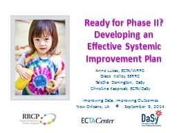 Ready for Phase II? Developing an Effective Systemic Improv