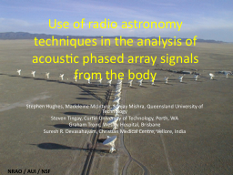 Use of radio astronomy techniques in the analysis of acoust