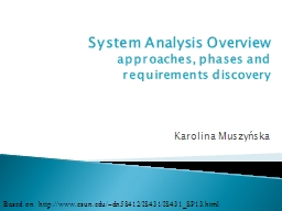 System Analysis Overview