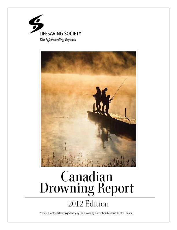 CanadianDrowning Report2012 Edition