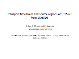 Transport timescales and source regions of UTLS air from ST