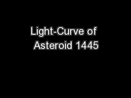 Light-Curve of Asteroid 1445