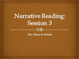 Narrative Reading: Session
