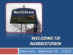 Welcome to Norristown