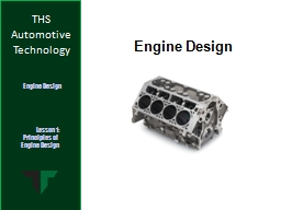 Engine Design PowerPoint PPT Presentation